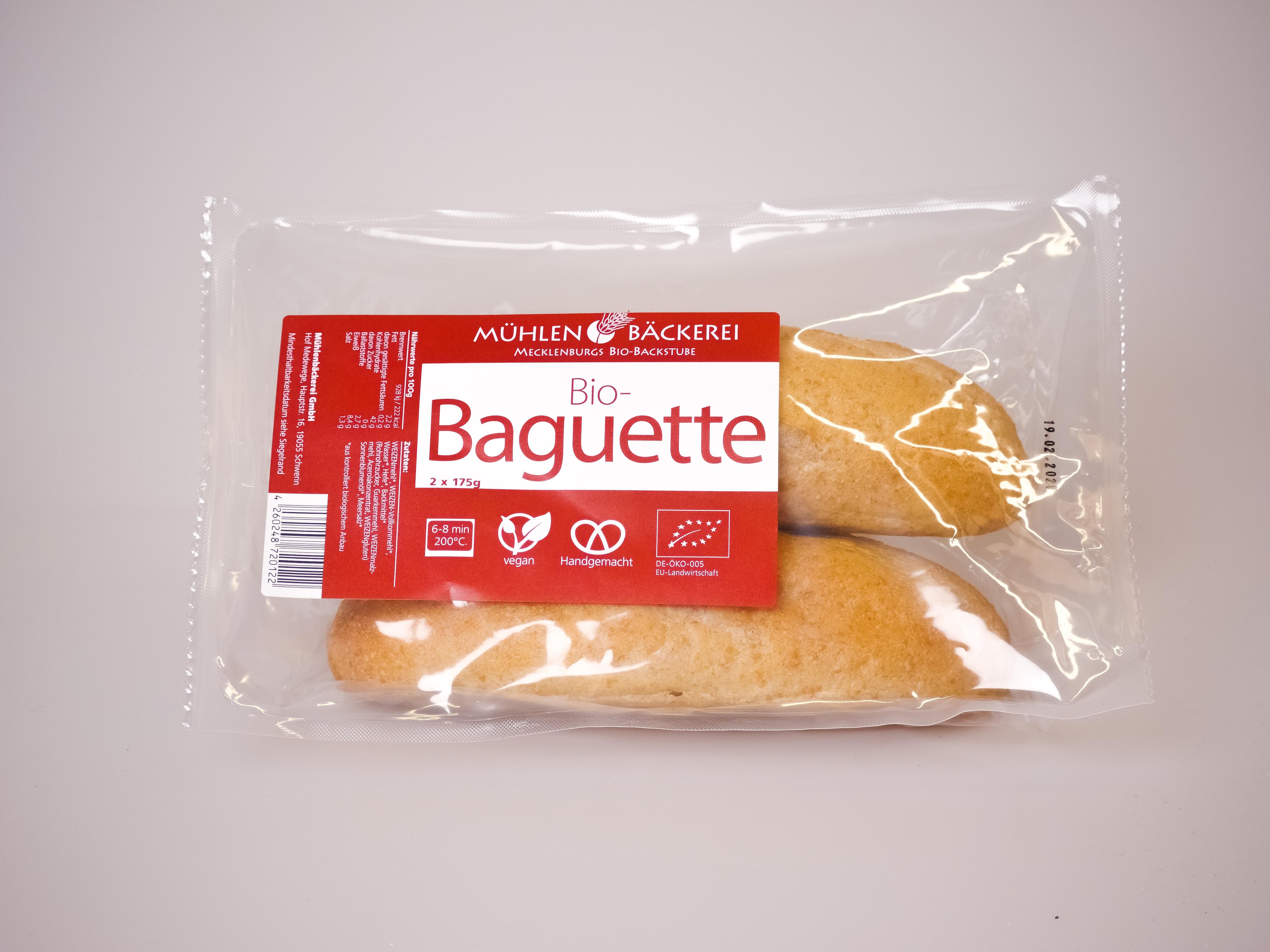 Baguette-Zwillinge zum Aufbacken